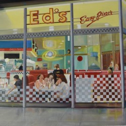 ED'S DINER 95cm x 65cm Oil on canvas