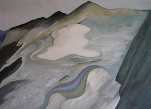 GLACIER 100cm x 80cm Oil on canvas