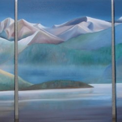 NORTHERN TRYPTICH 50cm x 70cm x 3cm Oil on canvas