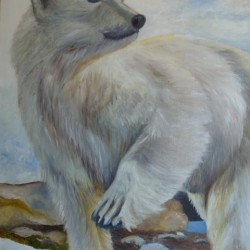 PAWS FOR THOUGHT 50cm x 65cm Oil on canvas
