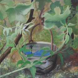 REFLECTIONS IN A BUCKET 50cm x 50cm Oil on canvas