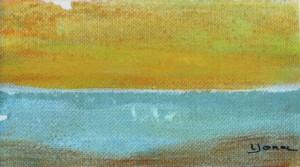 SEA Mini 21cm x 17cm Oil on canvas paper