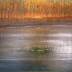 SILVER LAKE 80cm x 60cm Acrylic on canvas