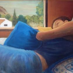 SLEEPING LOLL 60cm x 80cm Oil on canvas