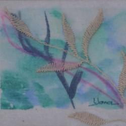 STALKS Mini 20cm x 19cm Oil on canvas paper