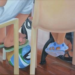 SUMMER FEET 76cm x 63cm Oil on canvas