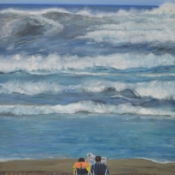 THE BIG WAVE 64cm x 83cm Oil on canvas