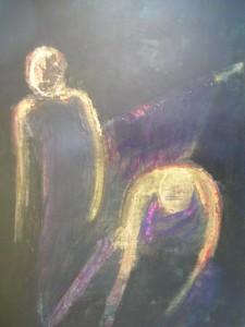 THE DANCERS 50cm x 70cm Acrylic on card