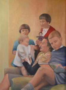 THE FAMILY 77cm x 57 cm Oil on canvas