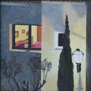 THE NEIGHBOUR 52cm x 52cm Oil on canvas
