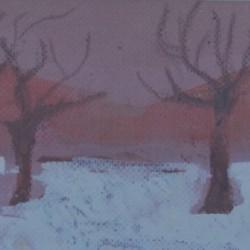 TREES Mini 21cm x 17cm Oil on canvas paper